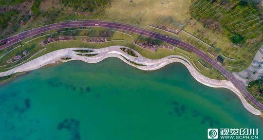 清新的空气,水池里的荷叶,路边的小花……位于天全县的慈朗湖湿地公园