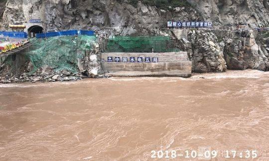 视频,组图:金沙江白格堰塞湖最新现场情况