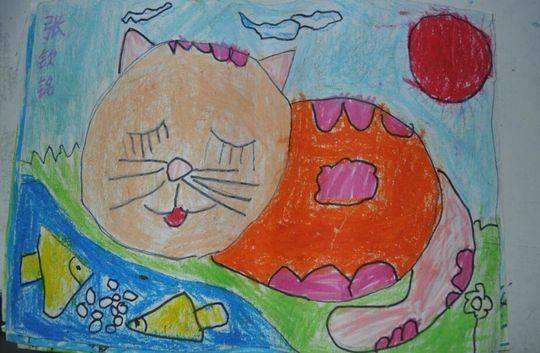 西昌7岁小朋友,画出心中最美邛海