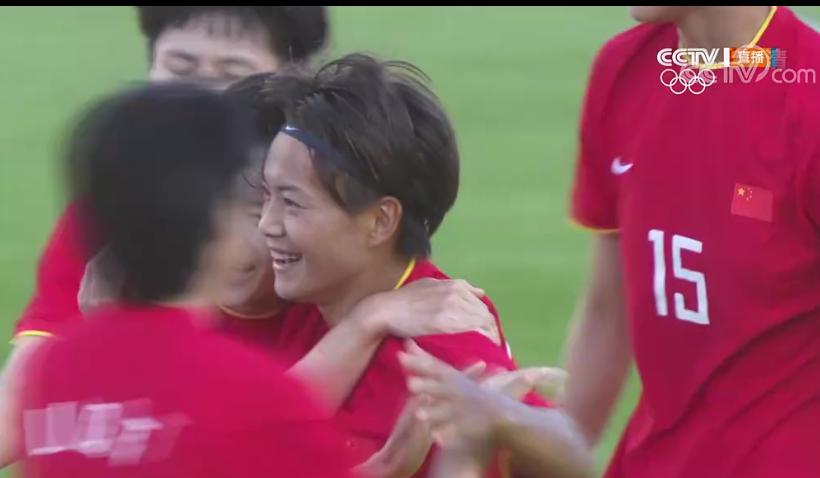 王霜进球了!中国女足打入本届奥运会首球
